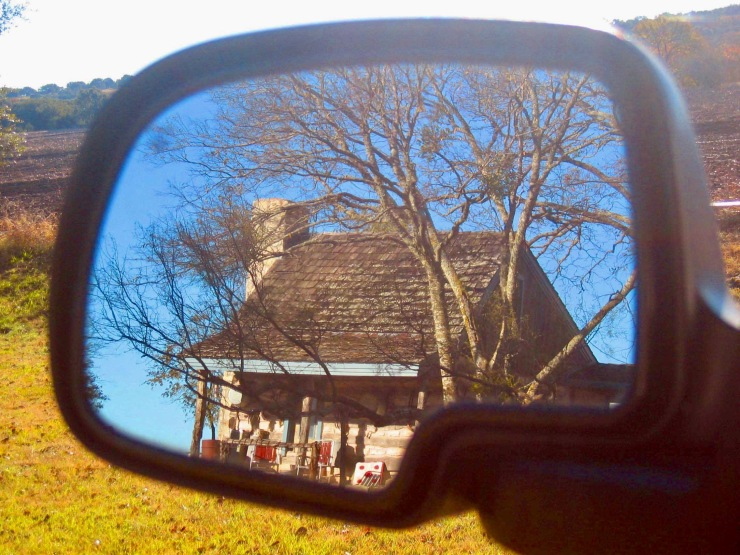 cabin-in-mirror