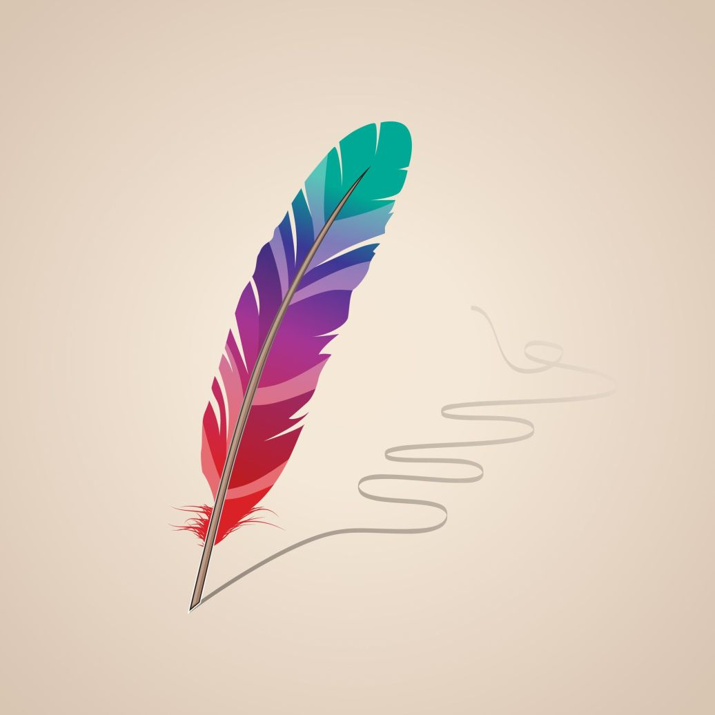 10639761 - many-coloured feather