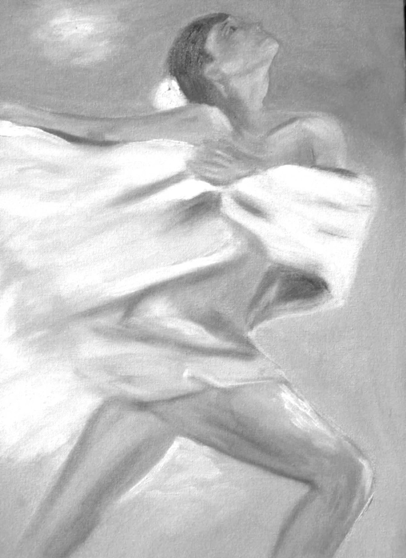 dancer black and white