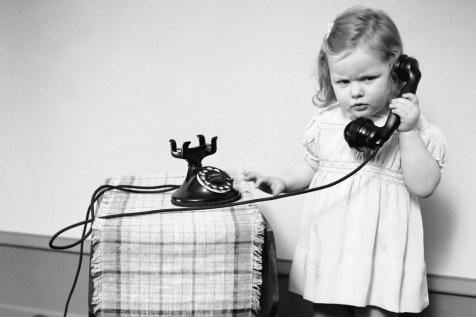 Child talking on the telephone